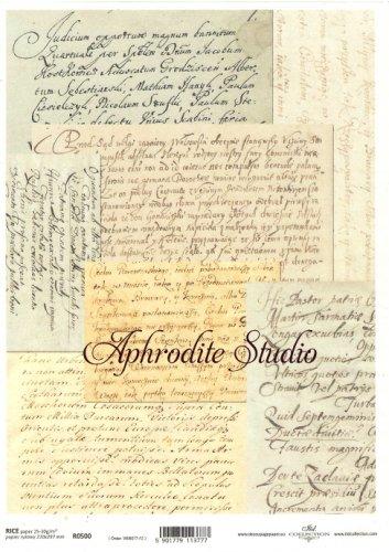 商用販売可能 古い手紙 デコパージュシート 1枚 和紙 ライスペーパー ITD Collection
