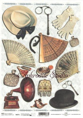 商用販売可能 紳士淑女のアイテム デコパージュシート 1枚 和紙 ライスペーパー ITD Collection