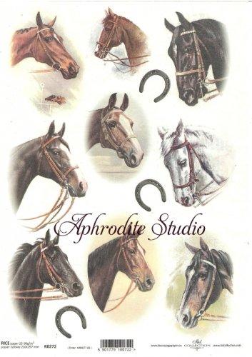 商用販売可能 馬 スミレ イースター デコパージュシート 1枚 和紙 ライスペーパー ITD Collection