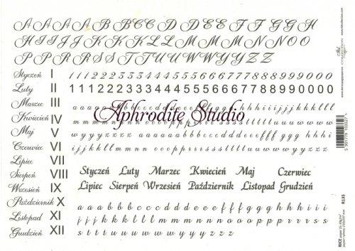 商用販売可能 文字 デコパージュシート 1枚 和紙 ライスペーパー ITD Collection