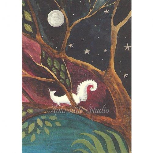 アニタ・ジェラーム メッセージカード【STARRY NIGHT】 グリーティングカード Anita Jeram