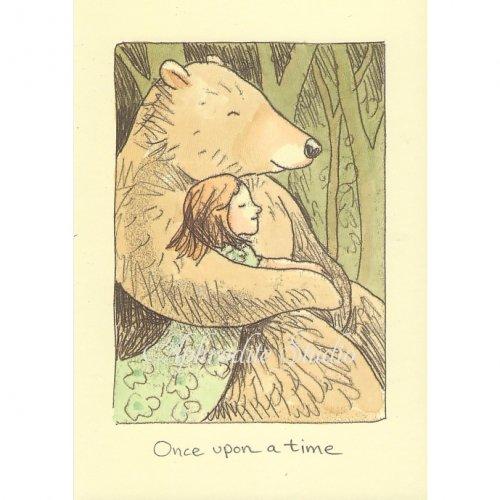 アニタ・ジェラーム メッセージカード【ONCE UPON A TIME】 グリーティングカード Anita Jeram