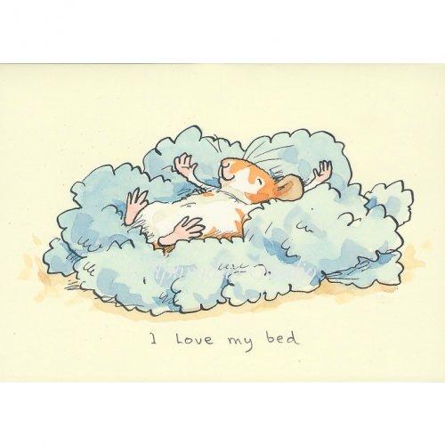 アニタ・ジェラーム メッセージカード【I LOVE MY BED】 グリーティングカード Anita Jeram