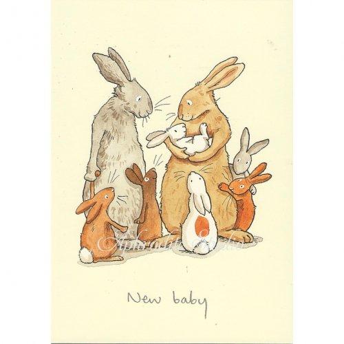 アニタ・ジェラーム メッセージカード【NEW BABY】 グリーティングカード Anita Jeram