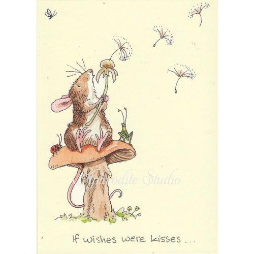 アニタ・ジェラーム メッセージカード【IF WISHES WERE KISSES】 グリーティングカード Anita Jeram