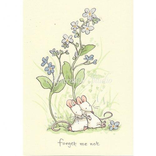アニタ・ジェラーム メッセージカード【FORGET ME NOT】 グリーティングカード Anita Jeram