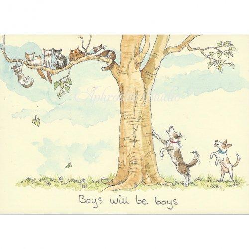 アニタ・ジェラーム メッセージカード【BOYS WILL BE BOYS】 グリーティングカード Anita Jeram
