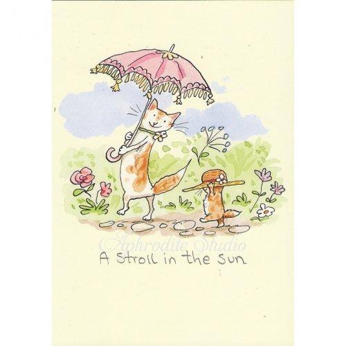 アニタ・ジェラーム メッセージカード【A STROLL IN THE SUN】 グリーティングカード Anita Jeram