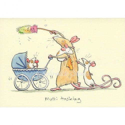 アニタ・ジェラーム メッセージカード【MULTI TASKING】 グリーティングカード Anita Jeram