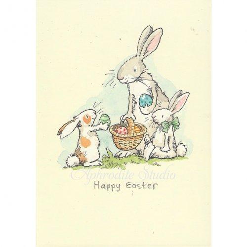 アニタ・ジェラーム メッセージカード【HAPPY EASTER】 グリーティングカード Anita Jeram