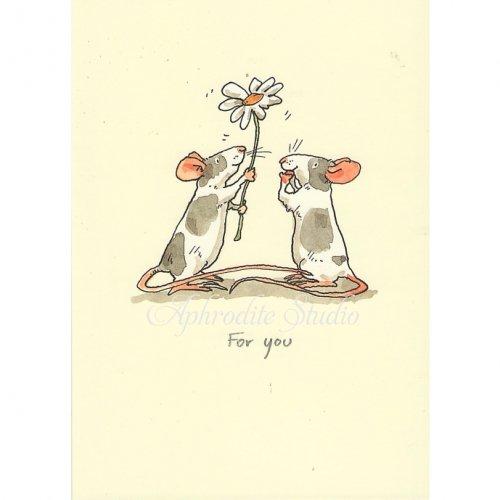 アニタ・ジェラーム メッセージカード【FOR YOU】 グリーティングカード Anita Jeram