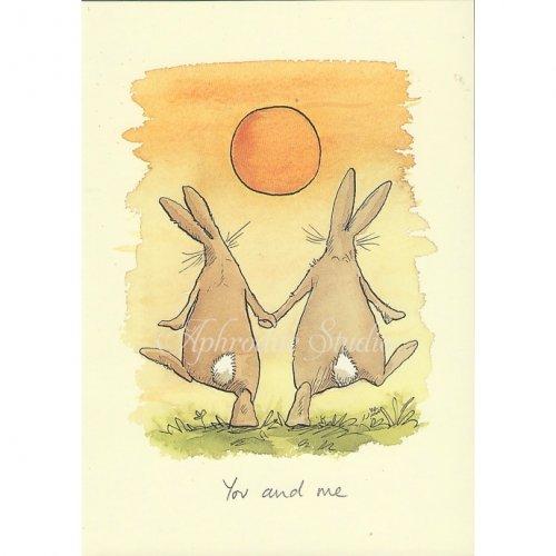 アニタ・ジェラーム メッセージカード【YOU AND ME】 グリーティングカード Anita Jeram