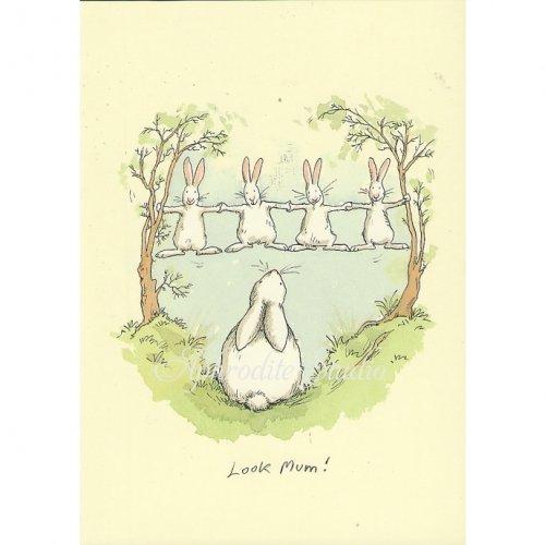 アニタ・ジェラーム メッセージカード【LOOK MUM】 グリーティングカード Anita Jeram
