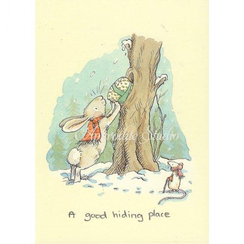アニタ・ジェラーム メッセージカード【A GOOD HIDING PLACE】 ブランククリスマスカード Anita Jeram
