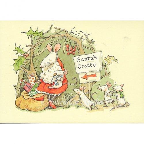 アニタ・ジェラーム メッセージカード【SANTAS GROTTO】 ブランククリスマスカード Anita Jeram