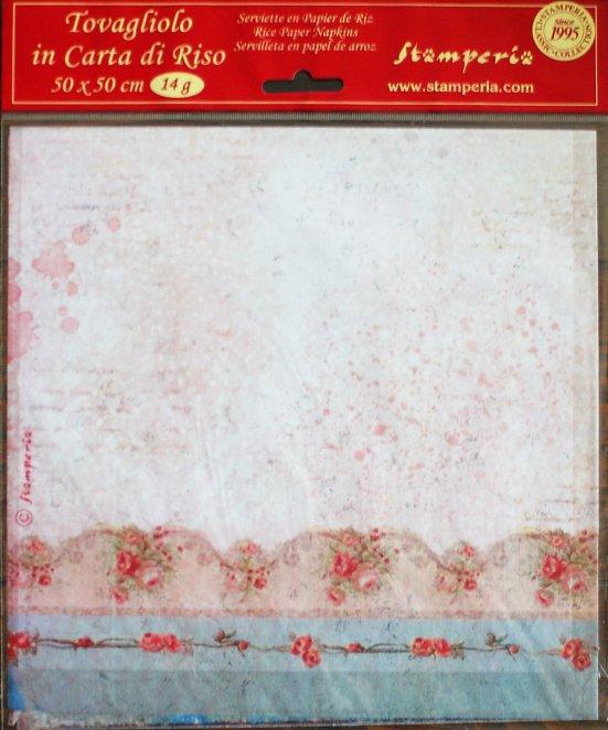 商用販売可能 スタンペリア 極薄紙 【Sweet Christmas】クリスマス ライスペーパーナプキン Stamperia