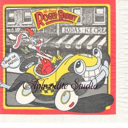 ヴィンテージ レア柄 ロジャーラビット キャラクター 1枚 バラ売り 33cm ペーパーナプキン ROGER RABBIT