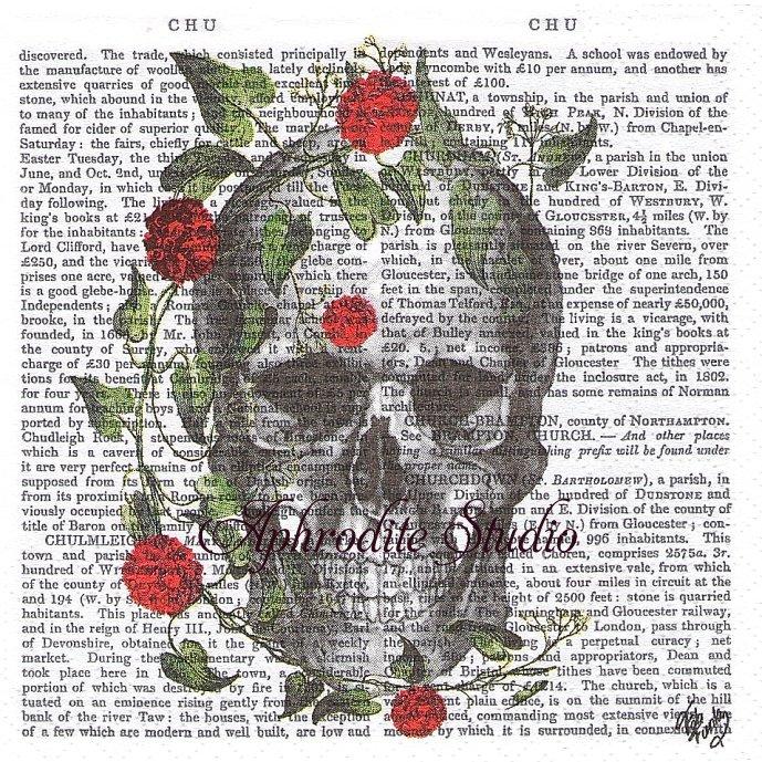 25cm Skull & Roses スカルと薔薇 1枚 バラ売り ペーパーナプキン ppd
