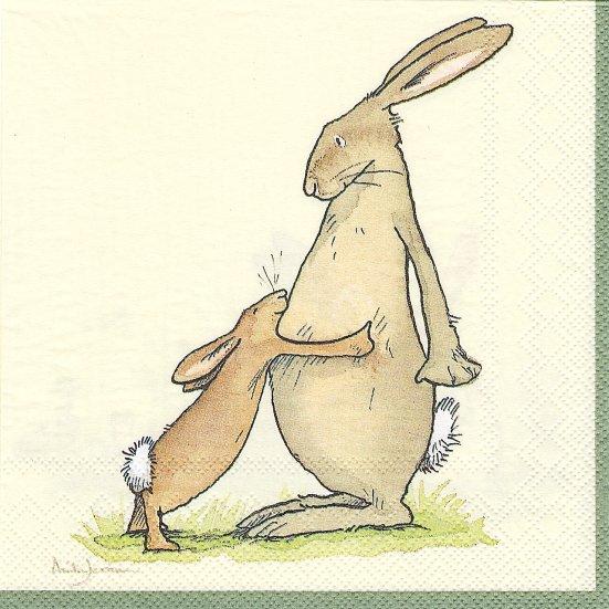 1パック20枚 未開封 アニタ・ジェラーム YOU ARE THE BEST 大好きうさぎ 33cm Two Bad Mice Anita Jeram ペーパーナプキン