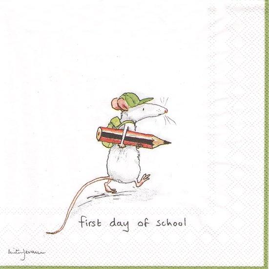 1パック20枚 未開封 アニタ・ジェラーム FIRST DAY OF SCHOOL 初めての登校 Anita Jeram ペーパーナプキン