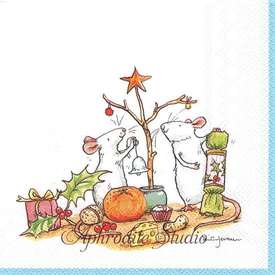 1パック20枚 未開封 アニタ・ジェラーム LITTLE CHRISTMAS TREE 小さなクリスマス・ツリー Anita Jeram ペーパーナプキン