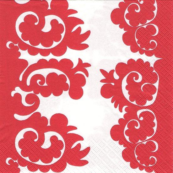 北欧 廃番 マリメッコ SAMOVAARI レッド サモヴァーリ ロシアの湯沸かし器 フィンランド製 1枚 バラ売り 33cm ペーパーナプキン デコパージュ marimekko
