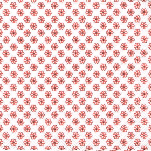 1パック20枚入 未開封 廃盤 CUTE PATTERN ホワイトコーラル キュート・パターン 小さなお花 33cm ペーパーナプキン Ihr