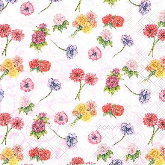 1パック20枚 FLOWER FESTIVAL 花柄 フラワーフェスティバル 33cm ペーパーナプキン 未開封 Ambiente