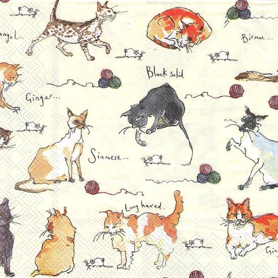 1パック20枚 猫デザイン マデリン・フロイド Madeleine Floyd 33cm ペーパーナプキン Ulster Weavers