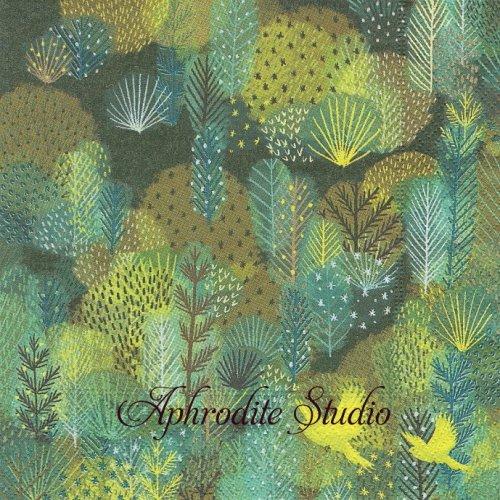Magic forest 森の木々と小鳥の風景 1枚 バラ売り 33cm ペーパーナプキン Paper+Design
