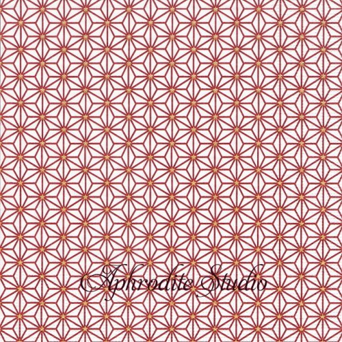 Ginza dark red ダークレッド 麻の葉模様 和柄 Lucca Bassi 1枚 バラ売り 33cm ペーパーナプキン ppd
