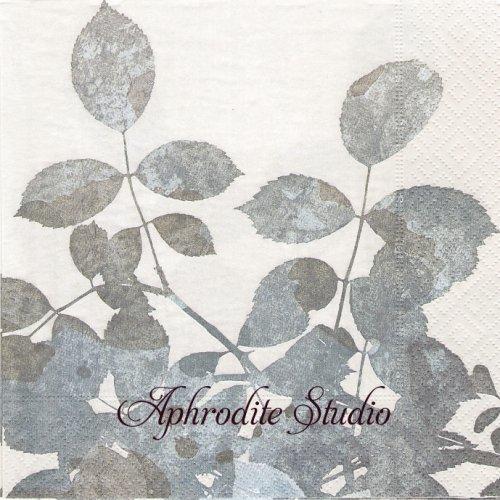 Silver leaves シルバー リーフ 葉っぱ 1枚 バラ売り 33cm ペーパーナプキン Paper+Design