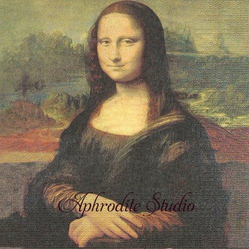 Mona Lisa (La Gioconda) モナリザ ジョコンダ夫人 1枚 バラ売り 33cm ペーパーナプキン ppd
