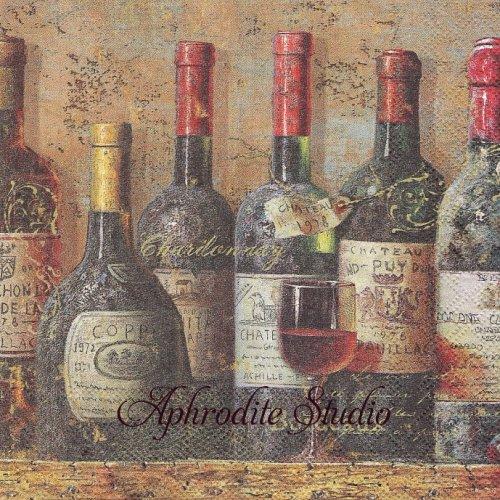 BEST WINES ベストワイン 1枚 バラ売り 33cm ペーパーナプキン Ambiente