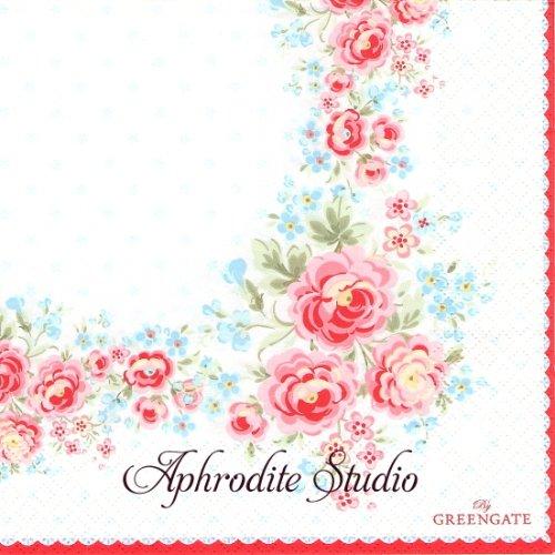 北欧 グリーン・ゲート TESS お花 1枚 バラ売り 33cm ペーパーナプキン GREENGATE