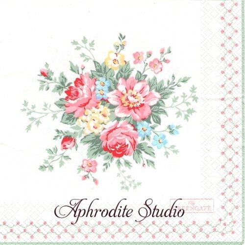 北欧 グリーン・ゲート Aurelia 薔薇、お花 1枚 バラ売り 33cm ペーパーナプキン GREENGATE