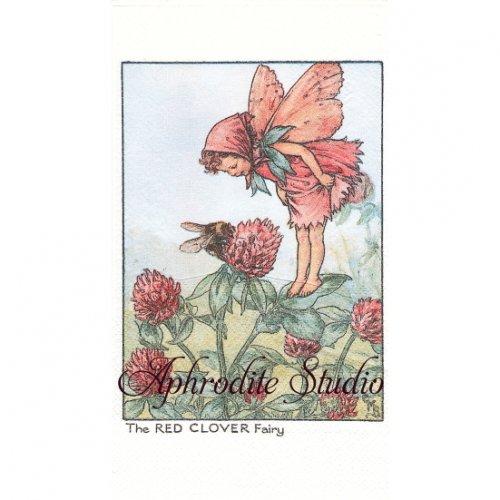 フラワーフェアリーズ クローバーの花の妖精 ペーパーナプキン 1枚 40x33cm デコパージュ バラ売り Flower Fairies