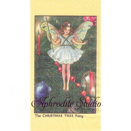 フラワーフェアリーズ クリスマスツリーの妖精 ペーパーナプキン 1枚 40x33cm デコパージュ バラ売り Flower Fairies