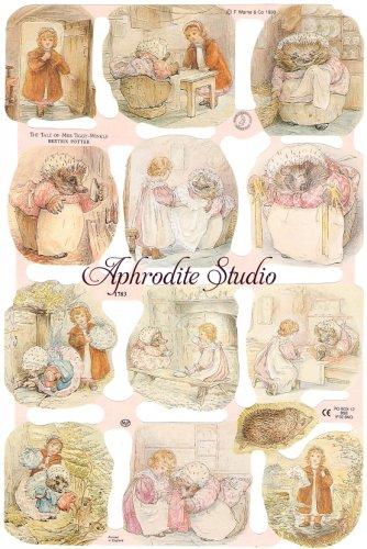 クロモス 廃盤品 ビアトリクス・ポター ティギーおばさんのおはなし  1枚 【1783】 ステッカー シール イギリス製 Beatrix Potter ピーターラビット