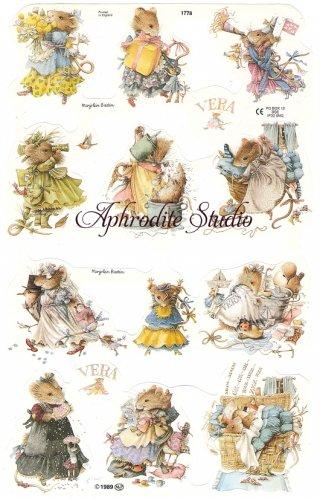 クロモス 廃盤 VERA THE MOUSE ヴェラマウス   1枚 【1778】 ステッカー シール イギリス製 マリョレイン・バスティン Marjolein Bastin