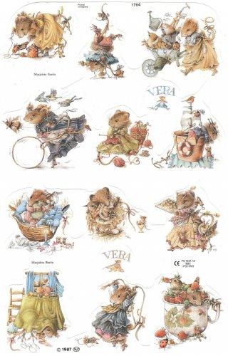 クロモス 廃盤 VERA THE MOUSE ヴェラマウス   1枚 【1764】 ステッカー シール イギリス製 マリョレイン・バスティン Marjolein Bastin