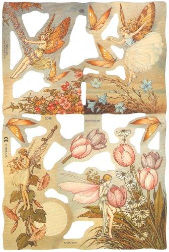 クロモス 廃盤希少品 フラワー フェアリー 妖精 イダ・レントゥール・アスウェイト  1枚 【2098】 ステッカー シール イギリス製 Flower Fairies