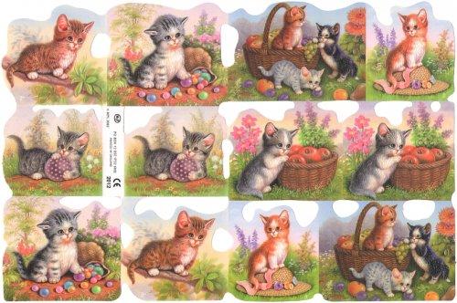 クロモス しまとら猫 CAT ねこ  1枚 【2012】 ステッカー シール イギリス製