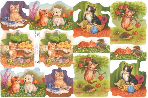 クロモス 犬と猫 CAT ねこ  1枚 【2011】 ステッカー シール イギリス製