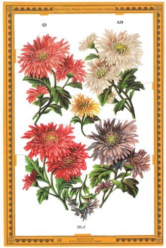 クロモス 花のブーケ ヴィクトリアン 1枚 【A28】 ステッカー シール イギリス製