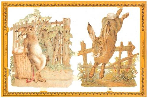 クロモス イースターの兎 バニー ラビット ヴィクトリアン 1枚 【A145】 ステッカー シール イギリス製