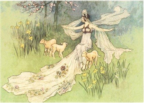 A5 妖精のイラストレーション フェアリー デコパージュシート 1枚 和紙 ライスペーパー