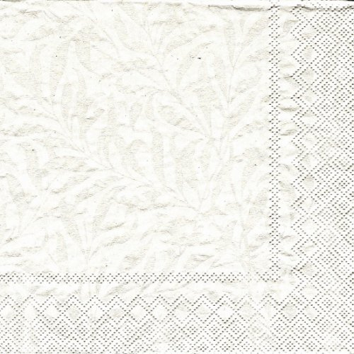 1パック20枚 廃番 ウィリアム・モリス ウィロー パール 33cm ペーパーナプキン William Morris Ihr