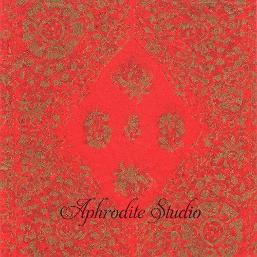 24cm 北欧 廃盤 マリメッコ ダイヤ型の紋様 レッド  花 シルク 和紙風 フィンランド製 1枚 バラ売り Decorated ペーパーナプキン marimekko