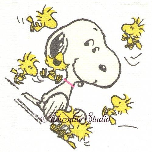 廃盤 レア柄 THE SUPERBEAGLE スヌーピー  1枚 バラ売り 30cm ペーパーナプキン SNOOPY peanuts